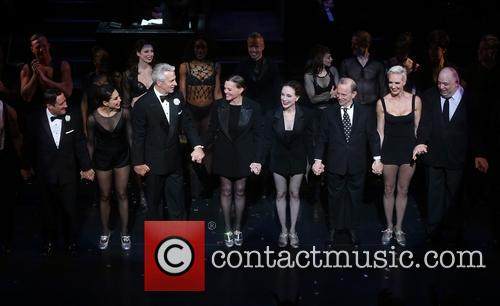 Christopher Fitzgerald, Bianca Marroquin, James Naughton, Ann Reinking, Bebe Neuwirth, Joel Grey, Amra-faye Wright and Raymond Bokhour 1