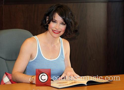 Evangeline Lilly signs copies of her book 'The...