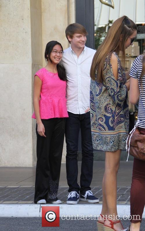 Calum Worthy at The Grove in Hollywood