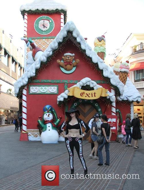 Phoebe Price at the Santa Claus House in...