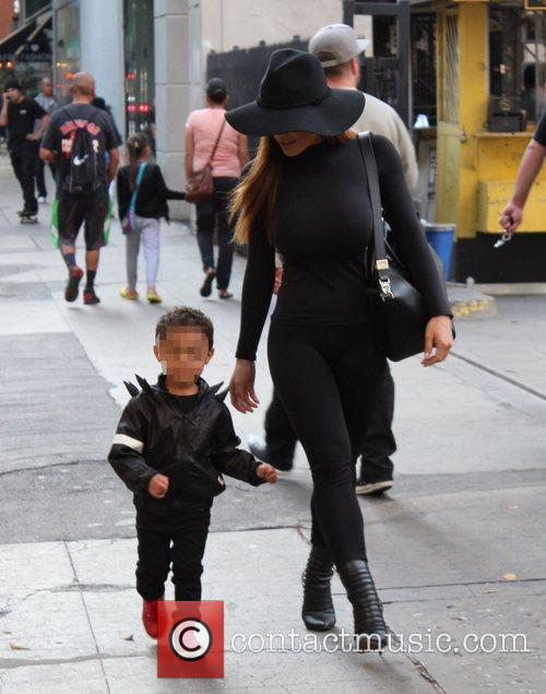 Daphne Joy out with her son in Downtown...