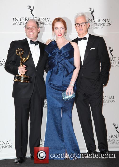 Matthew Weiner, Christina Hendricks and John Slattery 4