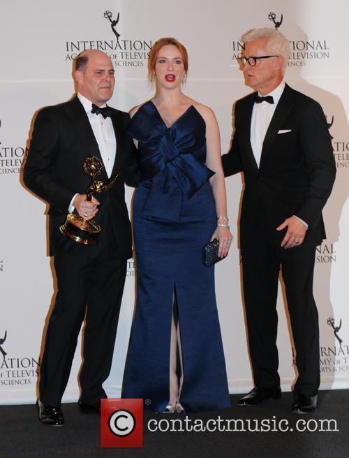 Matthew Weiner, Christina Hendricks and John Slattery 5