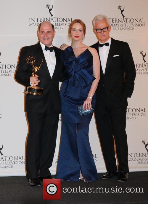 Matthew Weiner, Christina Hendricks and John Slattery 1
