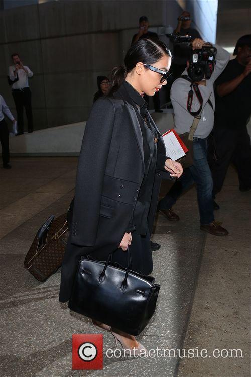 Kim Kardashian at Los Angeles International Airport (LAX)