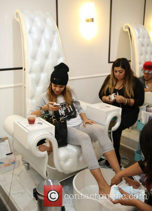 Erica Mena hosts a pamper day at Nail...