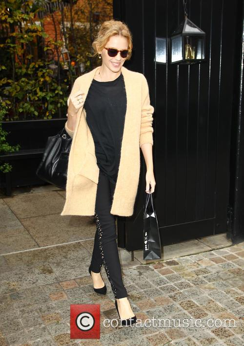 Kylie Minogue leaves Chiltern Firehouse