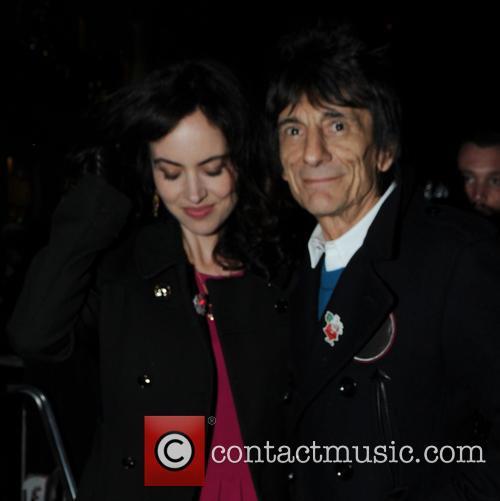Ronnie Wood and Sally Humphreys 9