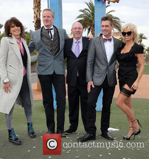 Chrissie Hynde, Dan Mathews, Jack Ryan and Pamela Anderson