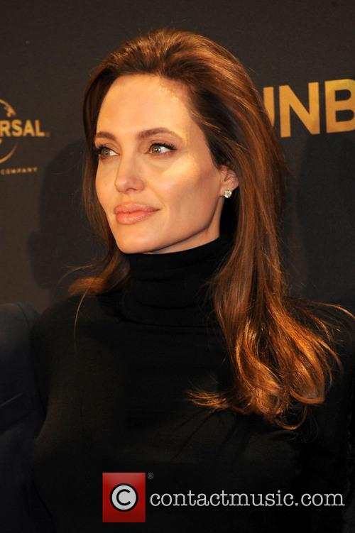 Angelina Jolie at Hyatt Hotel in Berlin