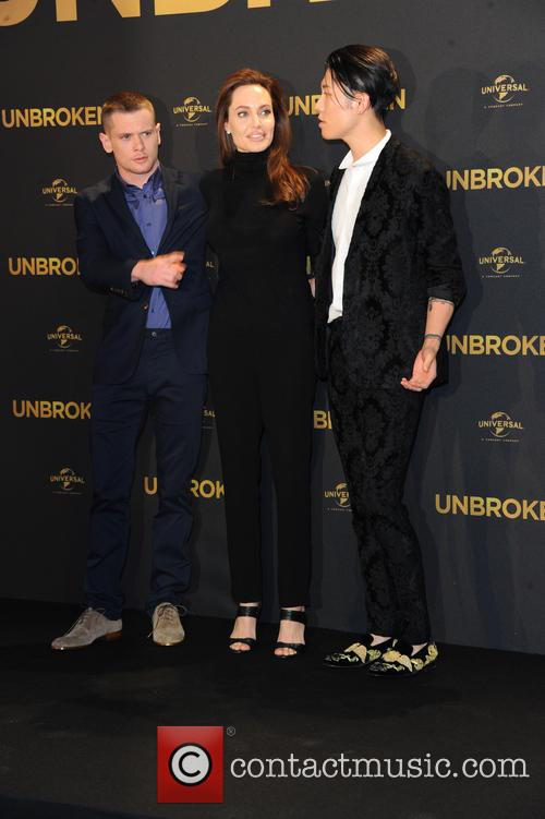 Angelina Jolie, Jack O Connell and Miyavi 4