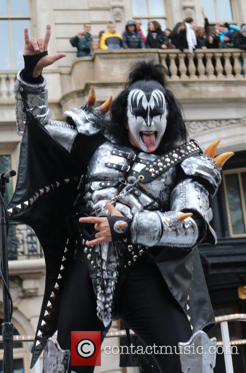 Gene Simmons at Macy's Thanksgiving Day Parade