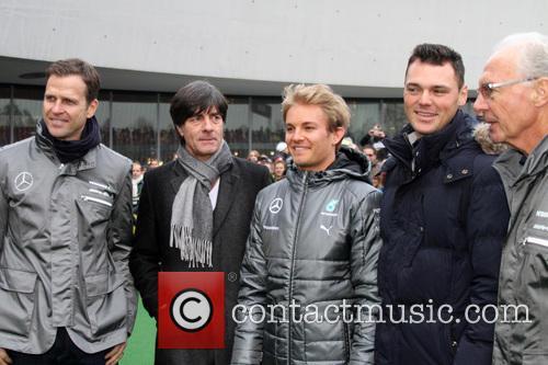 Oliver Bierhoff, Joachim Loew, Joachim Löw, Nico Rosberg, Martin Kaymer and Franz Beckenbauer 3