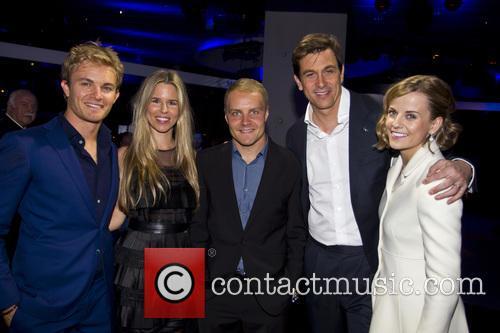 Nico Rosberg, Vivian Rosberg, Valtteri Bottas, Toto Woff and Susie Wolff