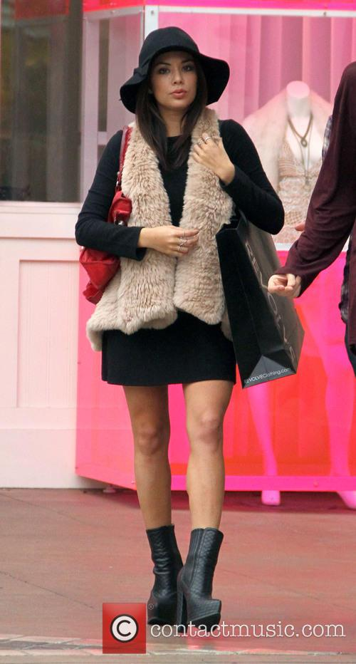 Ashley Rickards goes shopping at Revolve
