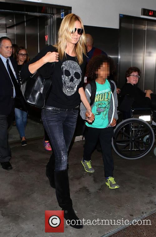 Heidi Klum and her children arrive at LAX