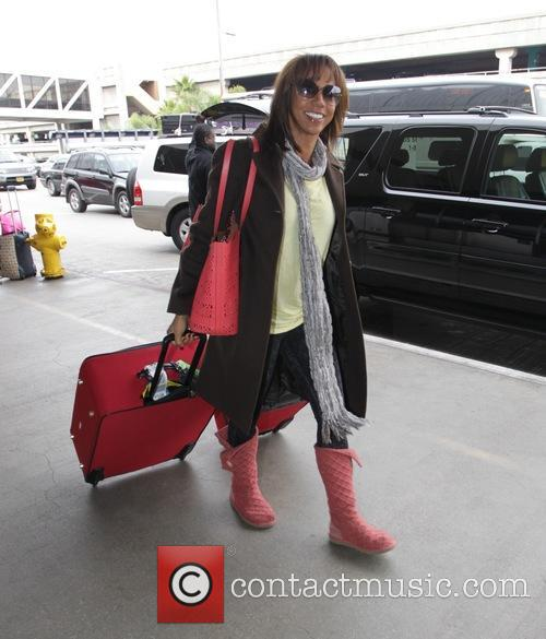 Holly Robinson Peete depart from Los Angeles International...