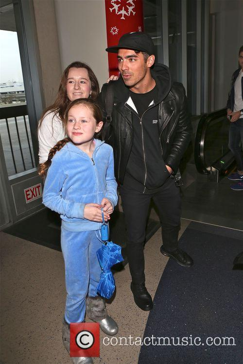 Joe Jonas at Los Angeles International Airport (LAX)