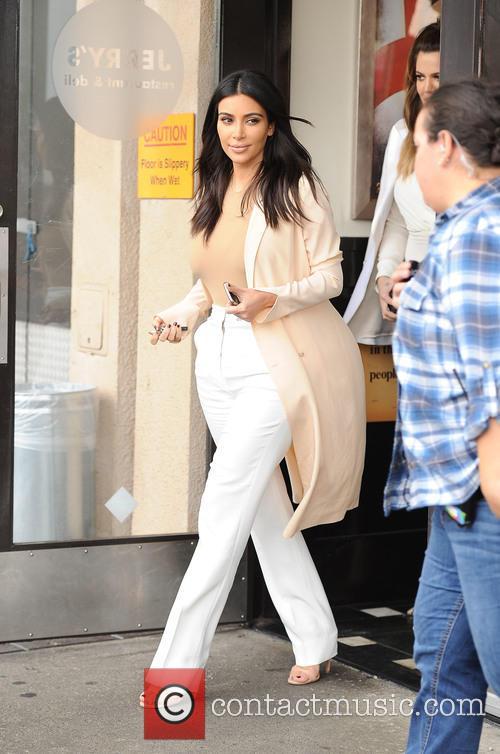 The Kardashian sisters leaving Jerry's deli
