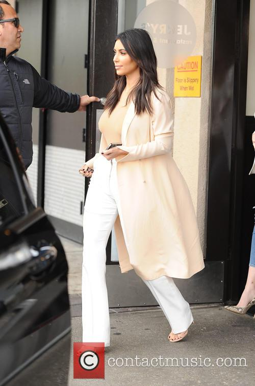 The Kardashian sisters leaving Jerry's deli