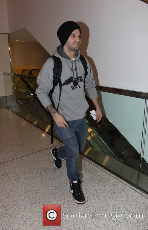 Mark Ballas departs from  Los Angeles International...