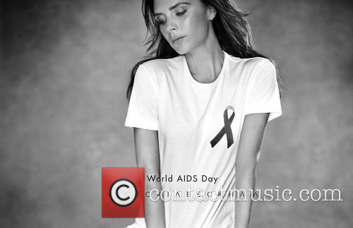 Victoria Beckham Designs T-shirt to Benefit UNAIDS on...