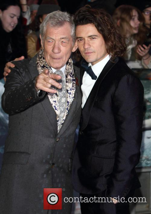 Sir Ian Mckellen and Orlando Bloom 2