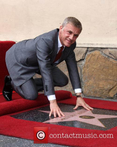 Christoph Waltz honoured on Hollywood Walk of Fame