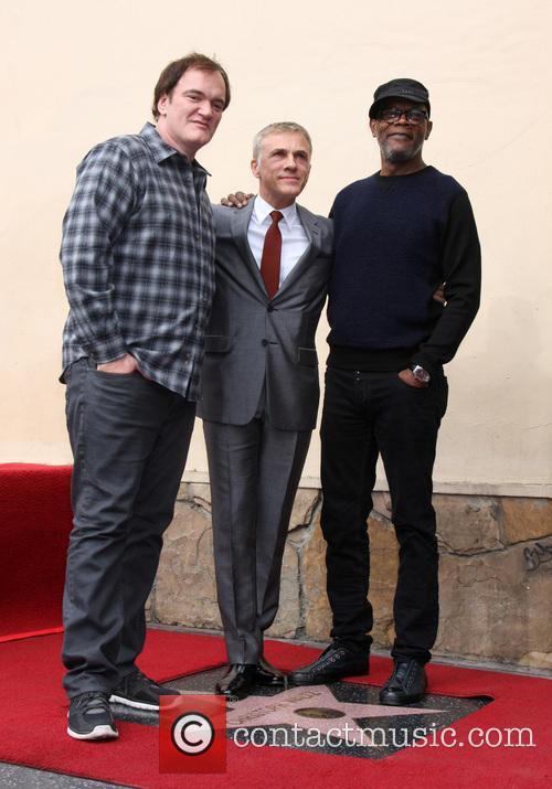 Quentin Tarantino, Christoph Waltz and Samuel L. Jackson 7