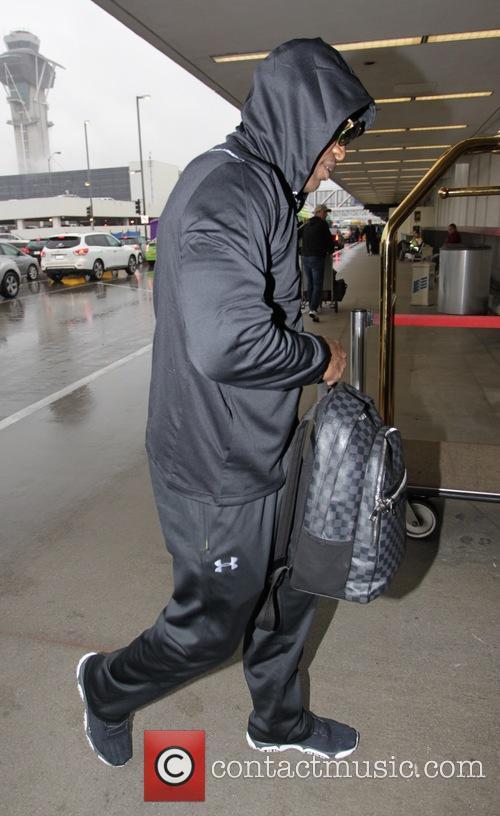 Jamie Foxx at Los Angeles International Airport (LAX)