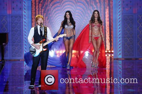 Adriana Lima, Alessandra Ambrosio and Ed Sheeran 11