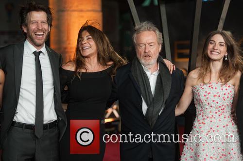 Andrew Tarbet, Giannina Facio, María Valverde and Sir Ridley Scott 1