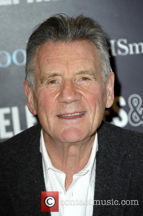 Michael Palin signs copies of his new book...