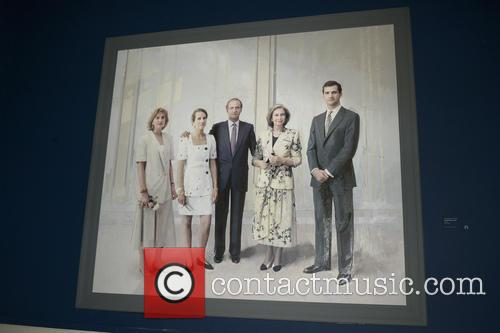 King Juan Carlos, Queen Sofia Inaugurate and Painting Exhibition 1