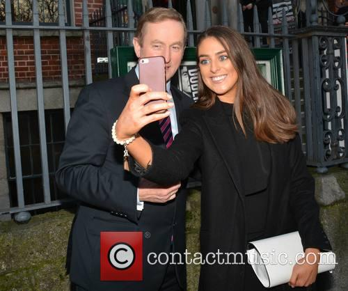 Taoiseach Enda Kenny stops for a selfie