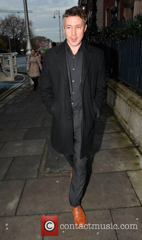 Aidan Gillen seen leaving The Merrion