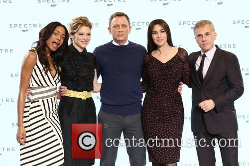 Naomie Harris, Daniel Craig, Lea Seydoux, Monica Bellucci and Christopher Waltz 2