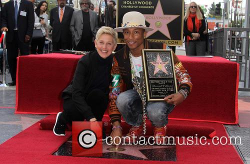 Ellen Degeneres and Pharrell Williams 3