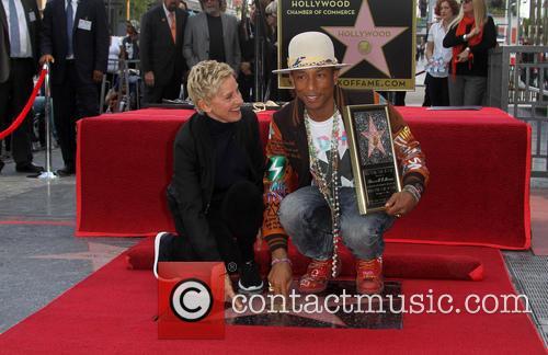 Ellen Degeneres and Pharrell Williams 4