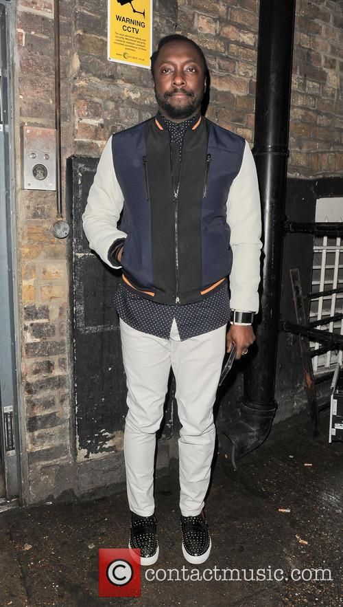 will.i.am pictured arriving at The Arts Club