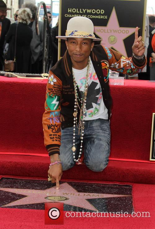 Pharrell Williams honored with a star on the...