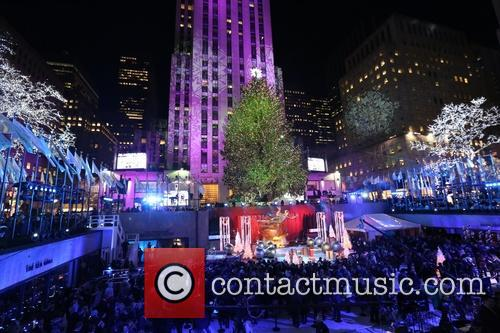 General View Of The Atmosphere At The 82nd Annual Rockefeller Christmas Tree Lighting Ceremony At Rockefeller Center 3