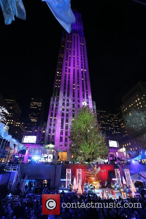 General View Of The Atmosphere At The 82nd Annual Rockefeller Christmas Tree Lighting Ceremony At Rockefeller Center 4