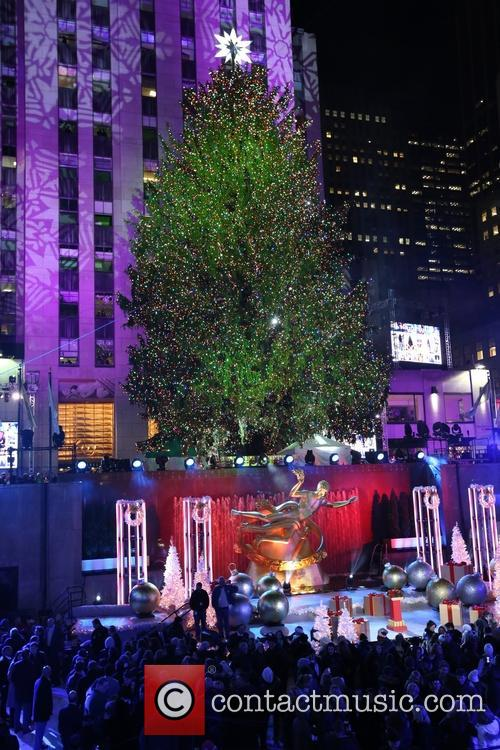 General View Of The Atmosphere At The 82nd Annual Rockefeller Christmas Tree Lighting Ceremony At Rockefeller Center 5