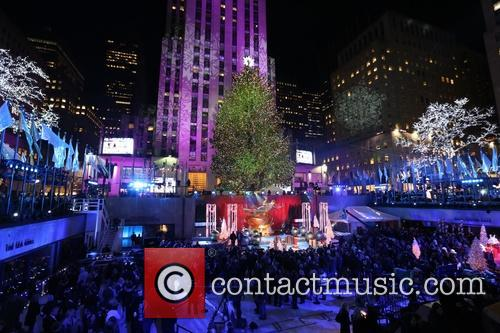 General View Of The Atmosphere At The 82nd Annual Rockefeller Christmas Tree Lighting Ceremony At Rockefeller Center 1