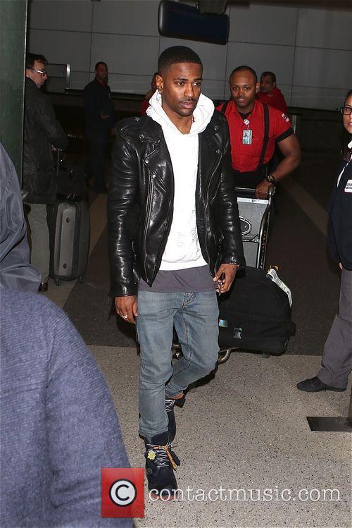 Big Sean arrives LAX airport
