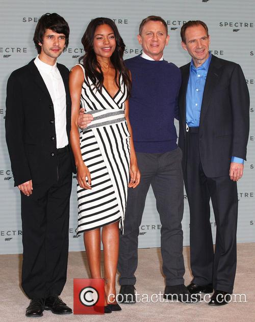 Ben Whishaw, Naomie Harris, Daniel Craig and Ralph Fiennes 6