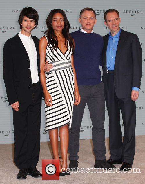 Ben Whishaw, Naomie Harris, Daniel Craig and Ralph Fiennes 7