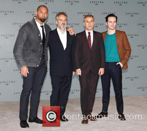 Dave Bautista, Sam Mendes, Christoph Waltz and Adam Scott 8