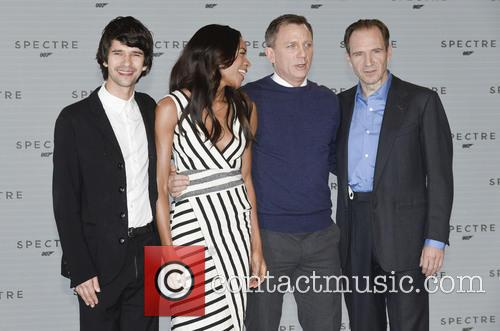Ben Whilshaw, Naomi Harris, Daniel Craig and Ralph Fiennes 2